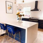 Navy and copper kitchen