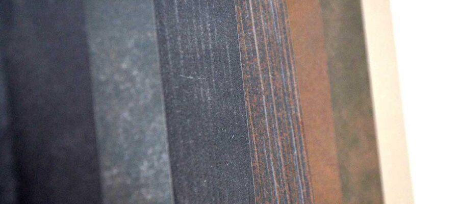Stone samples in dark tones