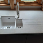 Worktop with integrated draining board