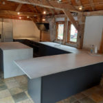 Kitchen in converted barn space