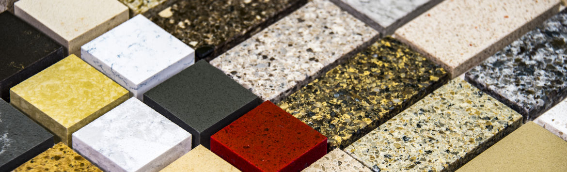 Selection of quartz tiles