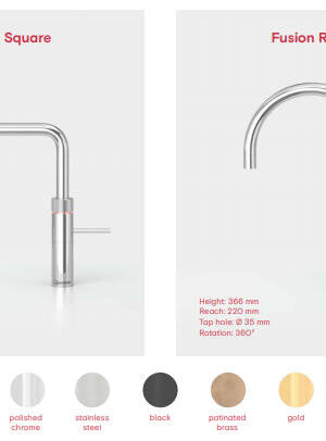 Quooker - Fusion Sqaure and Fusion Round