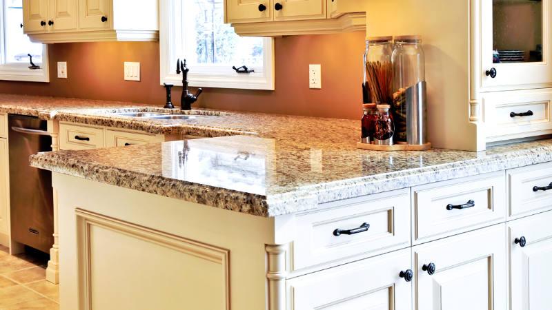 Kitchen with quartz composite kitchen