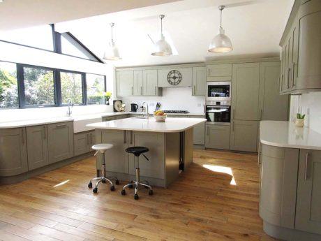 Unistone bianco carrara tier kitchen worktops and design