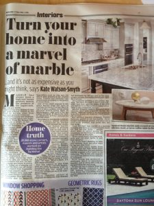 Daily Mail Article about marble worktops